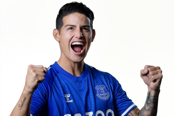 James Rodriguez joined Everton from Real Madrid