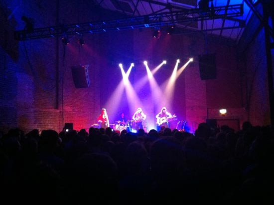 staves band live village underground london 19th November 2012