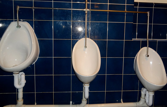 Multi-height urinals at the Lamb Hindon