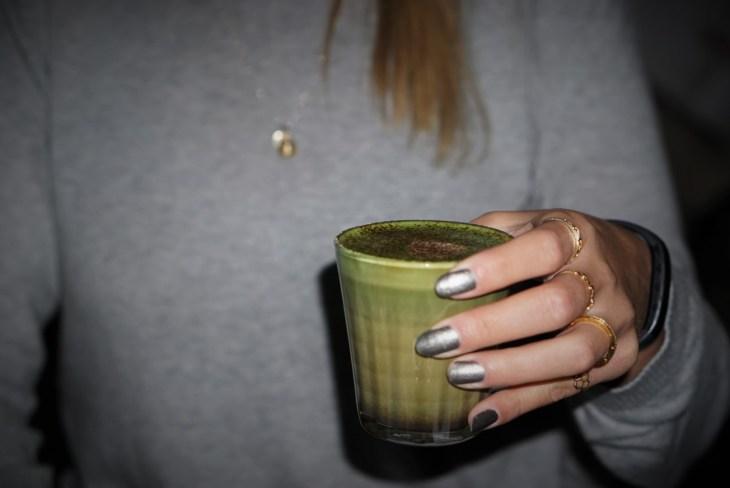 Cafe Oratnek matcha mocha