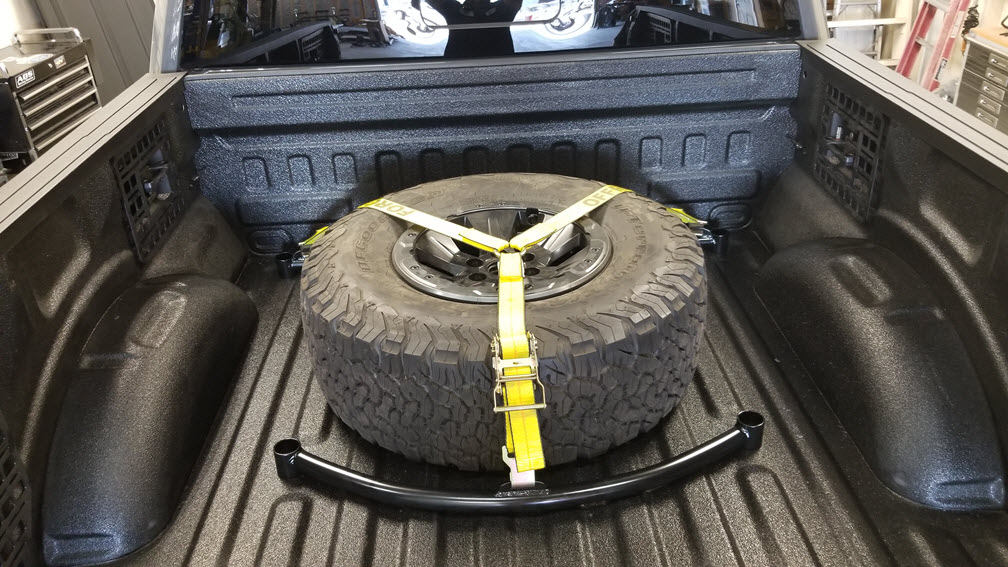 2017 ford raptor single tire tie down with y strap