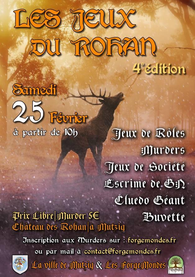 Affiche des Jeux du Rohan, 4ème édition