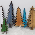 3D trees of all various colors - Made with Glowforge