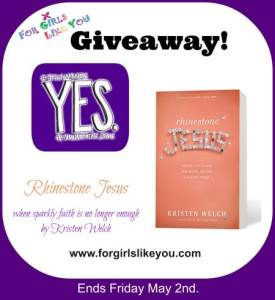 """""""Yes"""" Can Change the World. {Rhinestone Jesus Book Giveaway}"""