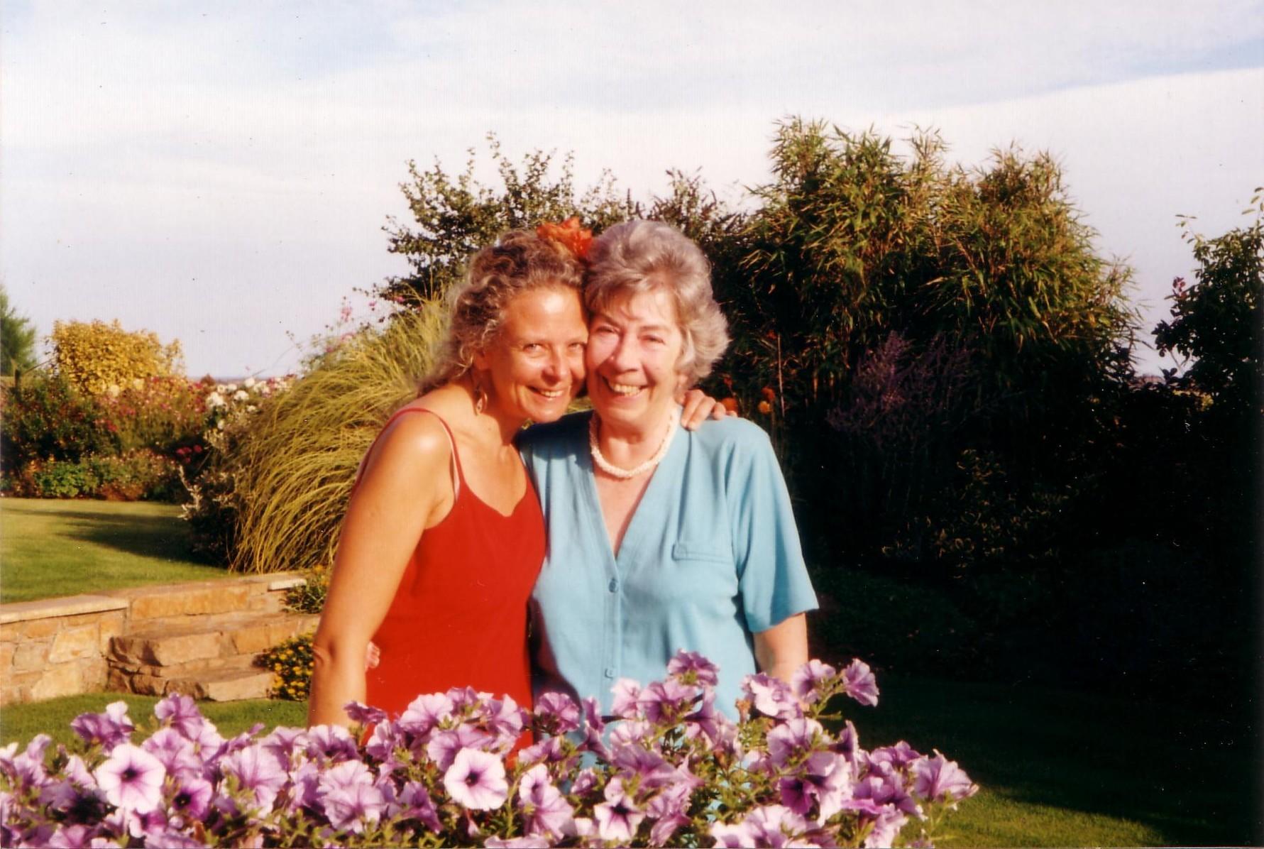 Annie, with my mum.