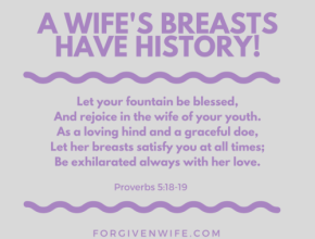 A wife's breasts are perfect for her husband.