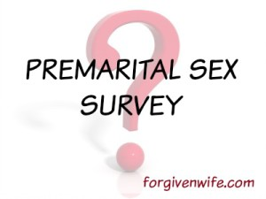 Did you engage in premarital sex? Take my survey!