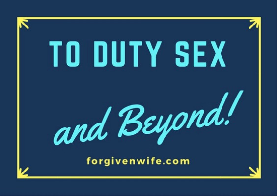 The benefits--and limits--of duty sex