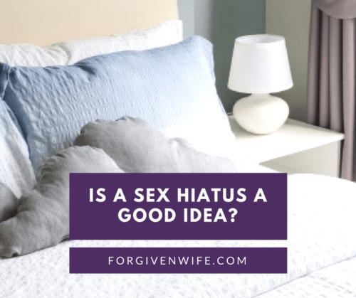 If you're trying to heal the sexual intimacy in your marriage, it might be a good idea to take a break from sex. If you're just trying to avoid sex, a break can be harmful.