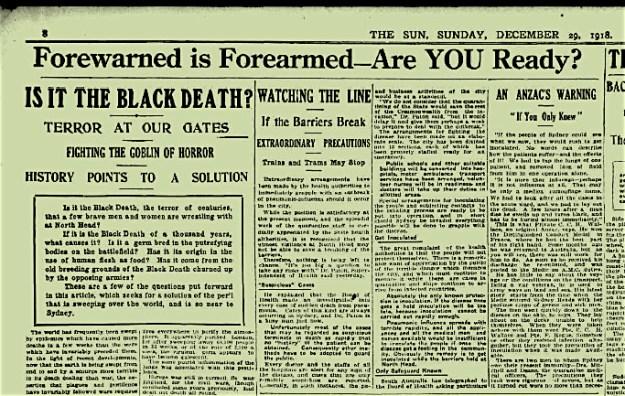 1918.12.29 - The Sun headline - Goblin of Horror