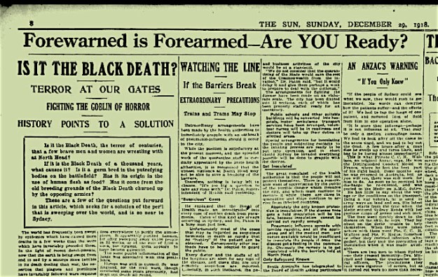 1918.12.29 - The Sun headline - Goblin of Horror