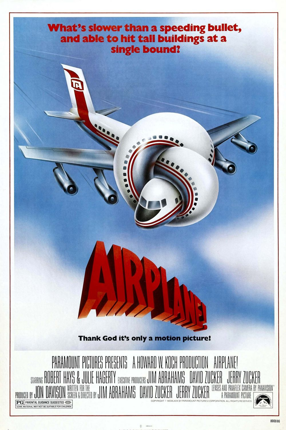 This image has an empty alt attribute; its file name is Airplane-movie-poster.jpg