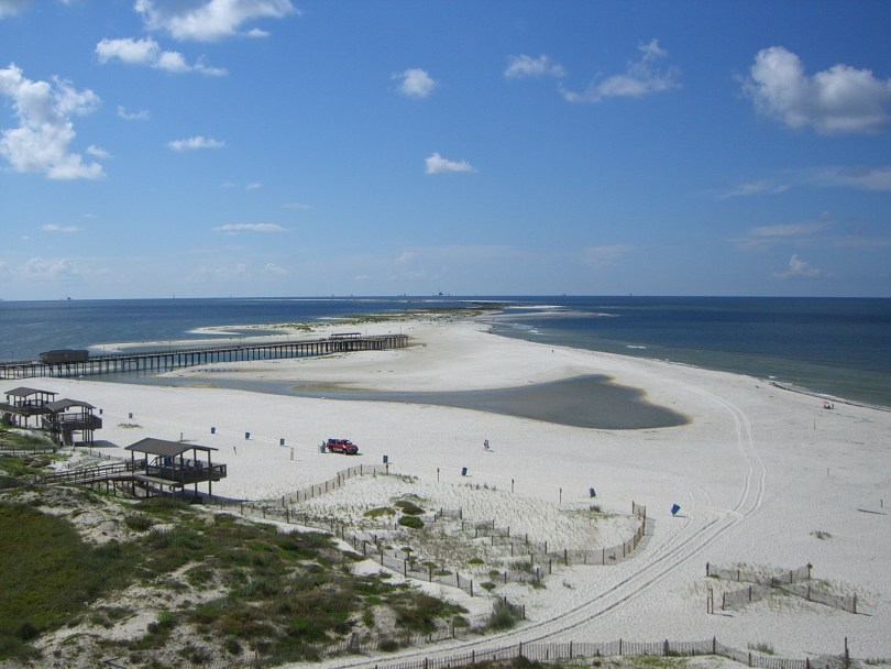 Dauphin Island beach view from Holiday isle condo