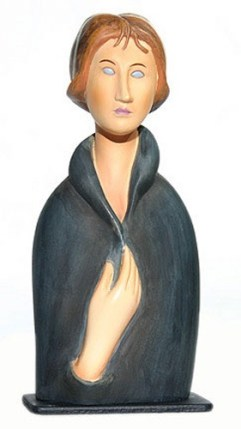 Amedeo Modigliani BLUE EYED WOMAN Sculpture