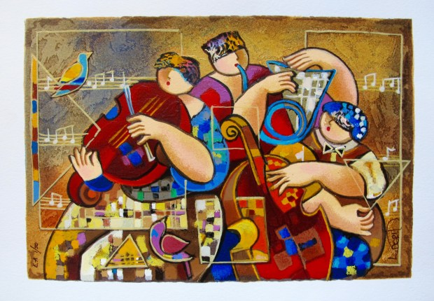 "DORIT LEVI ""TRIO CHORUS"" Hand Signed Limited Edition Serigraph"