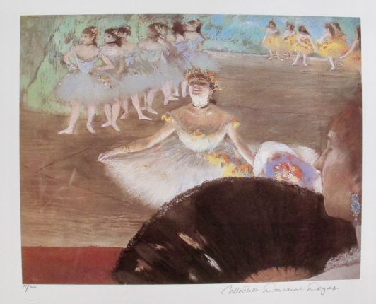 EDGAR DEGAS DANCER WITH BOUQUET Estate Signed Limited Edition Giclee