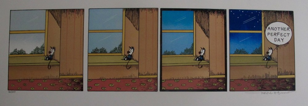 PATRICK MCDONNELL ANOTHER PERFECT DAY Hand Signed Limited Edition Lithograph