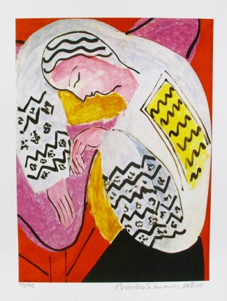 "HENRI MATISSE ""THE DREAM"" Estate Signed & Stamped Limited Edition Small Giclee"