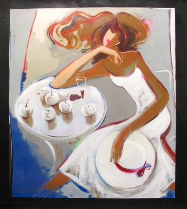 IRENE SHERI SUMMER DREAMS Hand Signed Limited Edition Giclee on Canvas