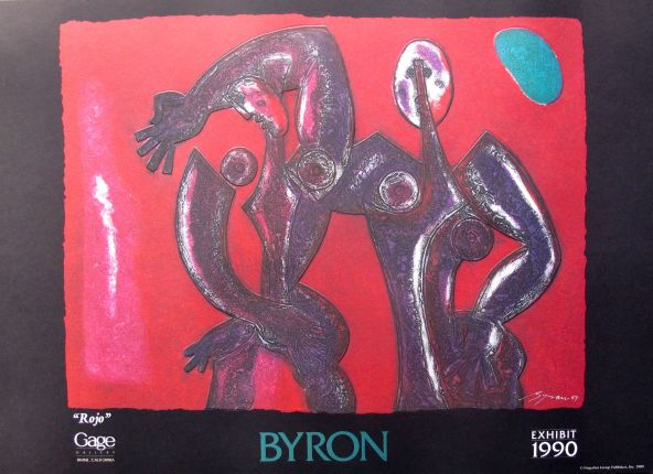 Byron Galvez ROJO Facsimile Signed Embossed Acrylograph