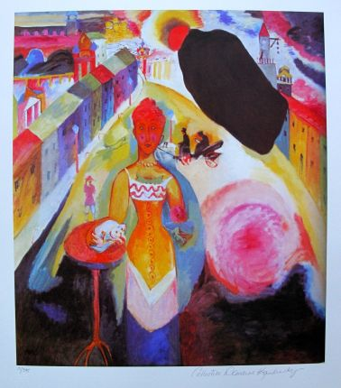Wassily Kandinsky LADY IN MOSCOW Estate Signed Limited Edition Giclee