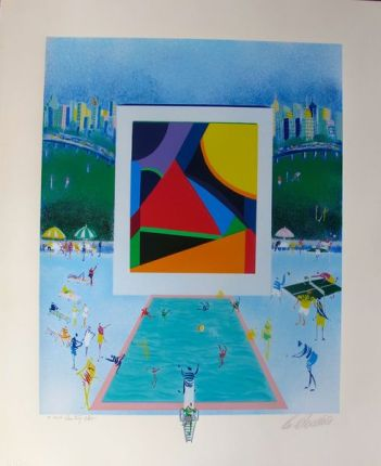 Leo Posillico COUNTRY CLUB Limited Ed. Hand Signed Serigraph