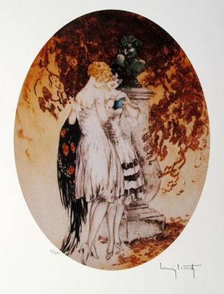 Louis Icart LOOK Facsimile Signed Limited Edition Giclee Small