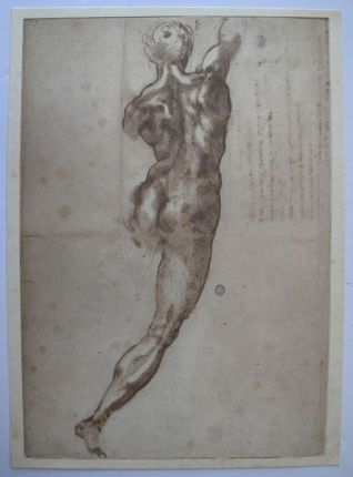 "MICHELANGELO 1970 Lithograph ""NAKED FOR THE BATTLE OF CASCINA"""