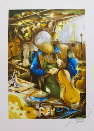 RAYMOND POULET VIOLIN MAKER Hand Signed Limited Edition Lithograph