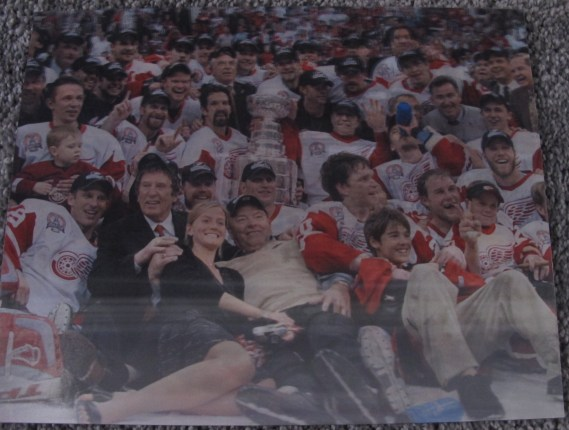 DETROIT RED WINGS STANLEY CUP CHAMPS 2002 3-D HOLOGRAPHIC PHOTO MEISNER ART NHL