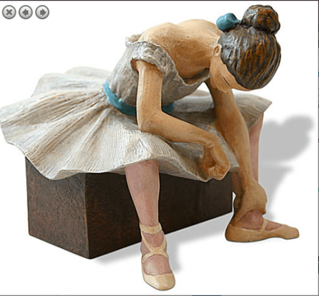 Edgar Degas L'ATTENTE The Waiting Ballerina Sculpture