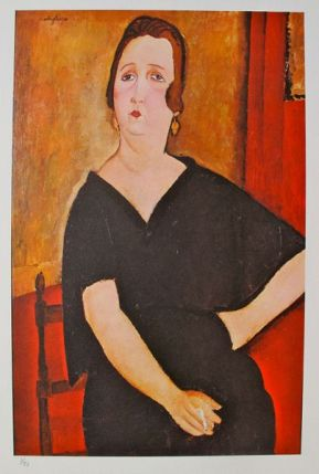 Amedeo Modigliani MME. AMADEE - WOMAN WITH CIGARETTE 1971 Plate Signed Limited Ed. Lithograph