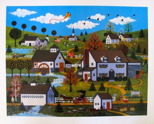 Jane Wooster Scott DOC'S DAY OFF Hand Signed Limited Ed. Lithograph