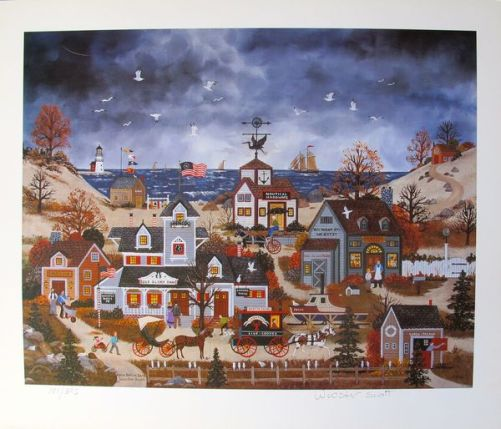 Jane Wooster Scott HOME BEFORE DARK Hand Signed Limited Ed. Lithograph