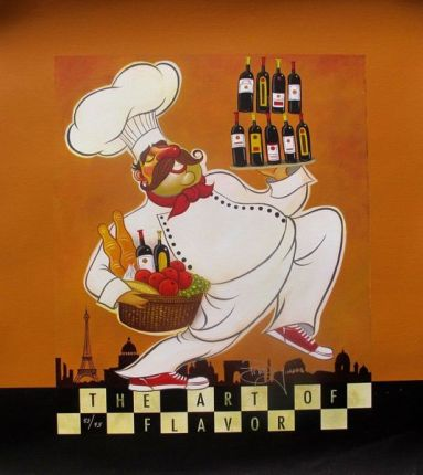 "TIM ROGERSON ""THE ART OF FLAVOR"" Hand Signed Ltd Edition Giclee on Canvas"