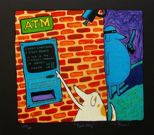"MATT RINARD ""BAD DOG"" Hand Signed Limited Edition Lithograph"
