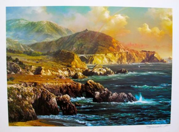 "ALEXANDER CHEN ""BIG SUR CALIFORNIA"" Hand Signed Limited Edition Lithograph"