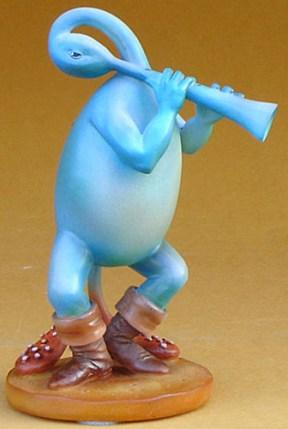Jheronymus Bosch BLUE FLUTIST Sculpture
