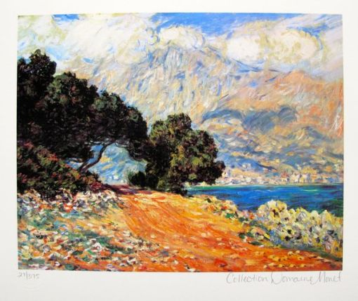 Claude Monet CAP MARTIN Estate Signed & Stamped Limited Edition Small Giclee