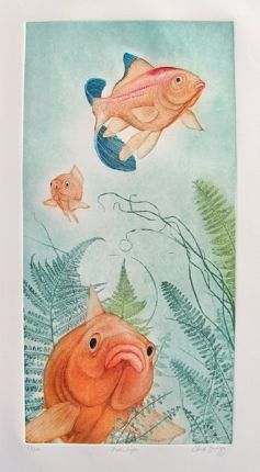 Charles Lynn Bragg FISH LIPS Hand Signed Limited Ed. Etching