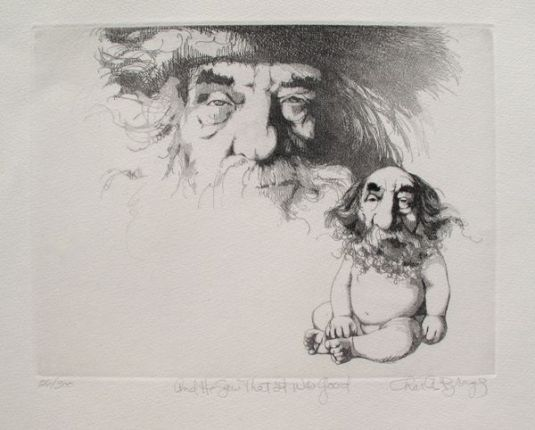"Charles Bragg ""AND HE SAW THAT IT WAS GOOD"" Hand Signed Limited Ed. Etching"
