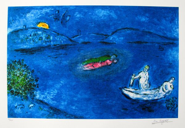 Marc Chagall ECHO Limited Edition Facsimle Signed Giclee