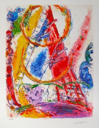 Marc Chagall CIRCUS III Limited Edition Facsimile Signed Giclee
