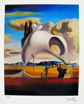 Salvador Dali ATRUISTIC VESTIGES AFTER THE RAIN Facsimile Signed & Numbered Giclee