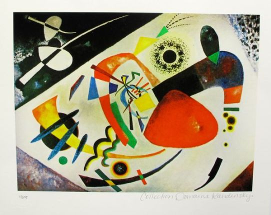 Wassily Kandinsky RED SPOT II Estate Signed Limited Edition Small Giclee