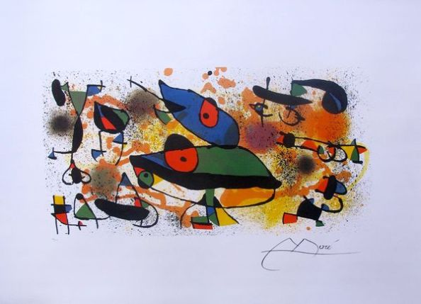 Joan Miro SCULPTURES II Facsimile Signed Limited Edition Lithograph