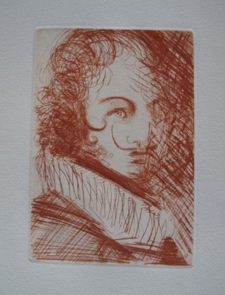 Salvador Dali SELF PORTRAIT Etching on Wove Paper