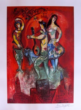 Marc Chagall CARMEN Limited Edition Facsimile Signed Lithograph