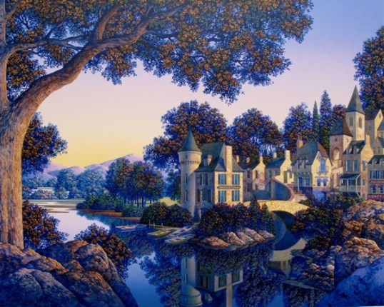 Jim Buckels HOTEL de L'ECLUSE Hand Signed Limited Ed. Serigraph