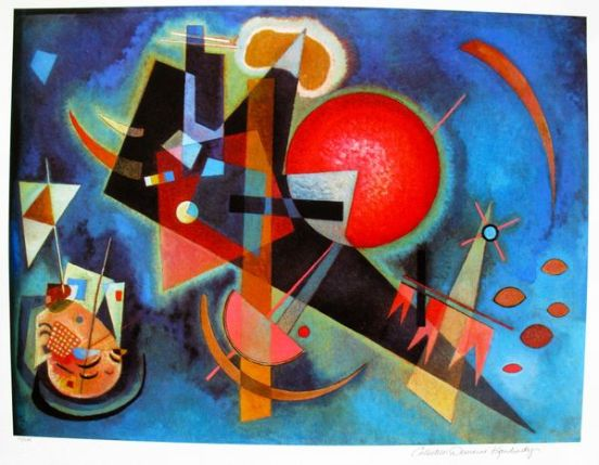 Wassily Kandinsky IN BLUE Estate Signed Limited Edition Giclee